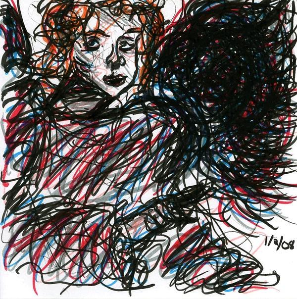 Angel Sketch Print by Rachel Scott