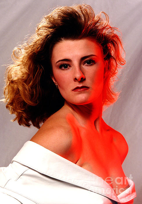 Angela Red Leather Print by Gary Gingrich Galleries