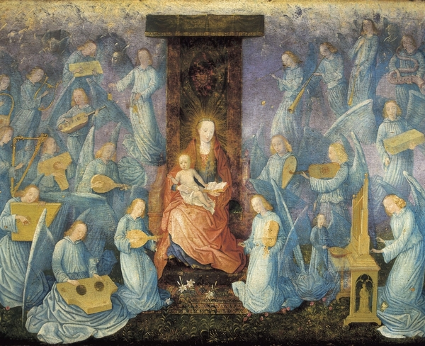 Angelical Concert. 15th-16th C. Flemish Print by Everett