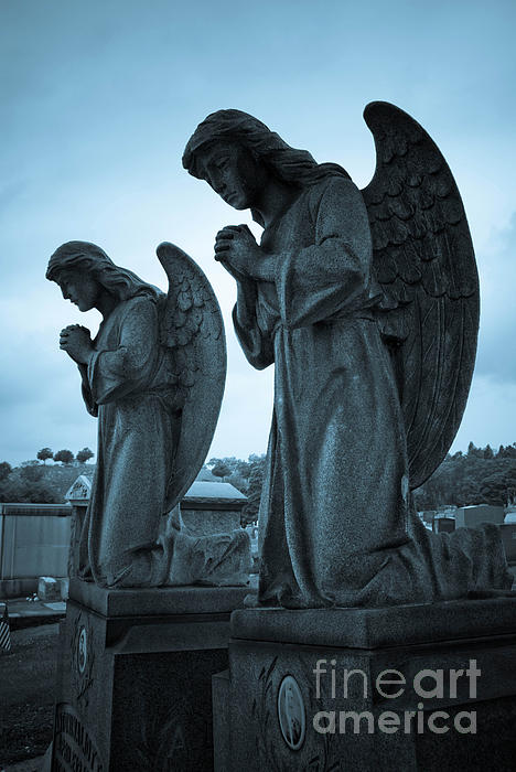 Angels In Prayer Print by Amy Cicconi