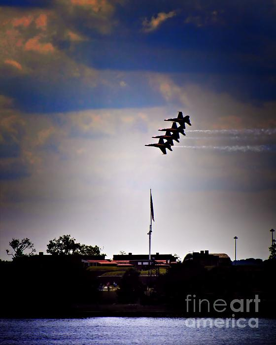 Angels Over Ft. Mchenry 2 Print by Robert McCubbin