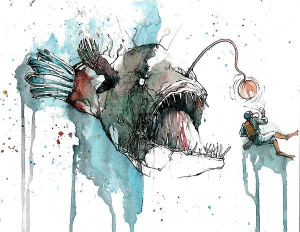 Angler  Print by Michael  Pattison