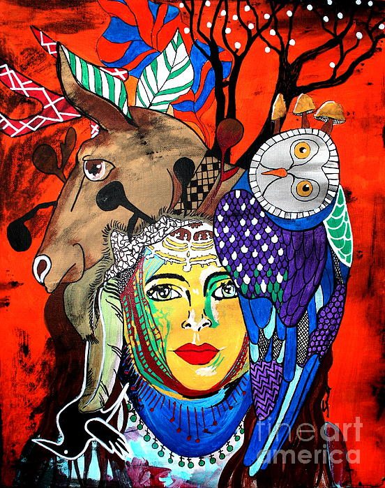 Animal Basket Print by Amy Sorrell