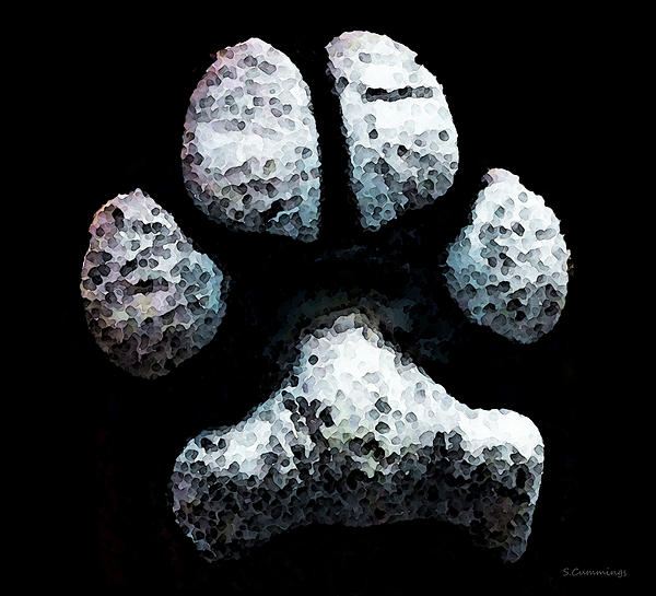 Animal Lovers - South Paw Print by Sharon Cummings