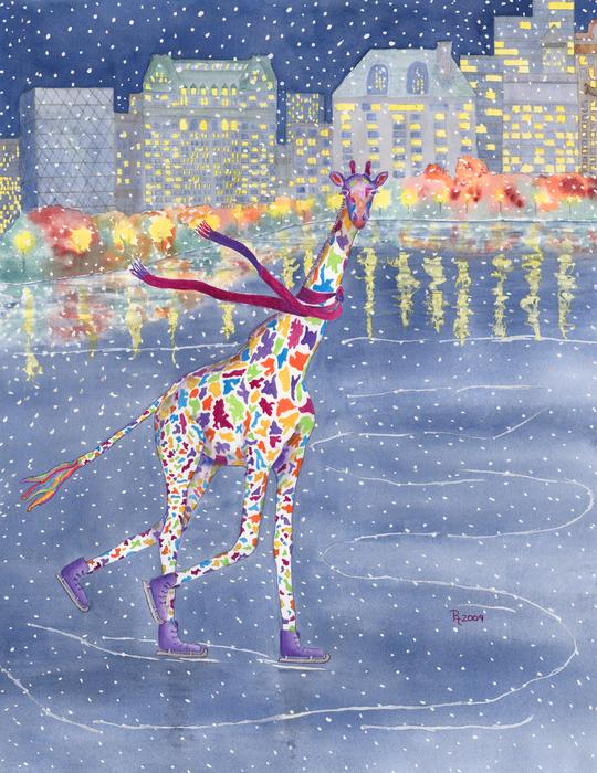 Annabelle On Ice Print by Rhonda Leonard