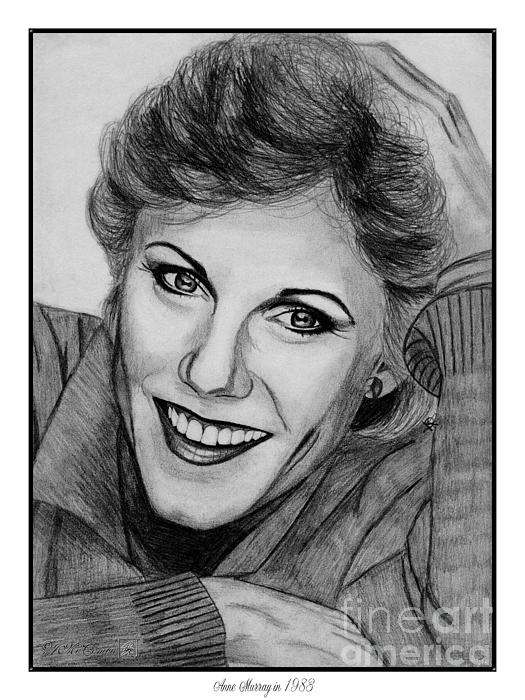 Anne Murray In 1983 Print by J McCombie