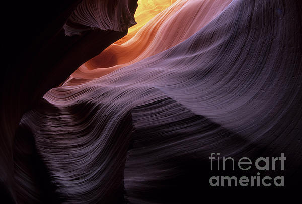 Antelope Canyon Movement In Stone Print by Bob Christopher