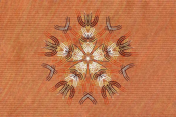 Anthropomorphic Mandala Print by Hakon Soreide
