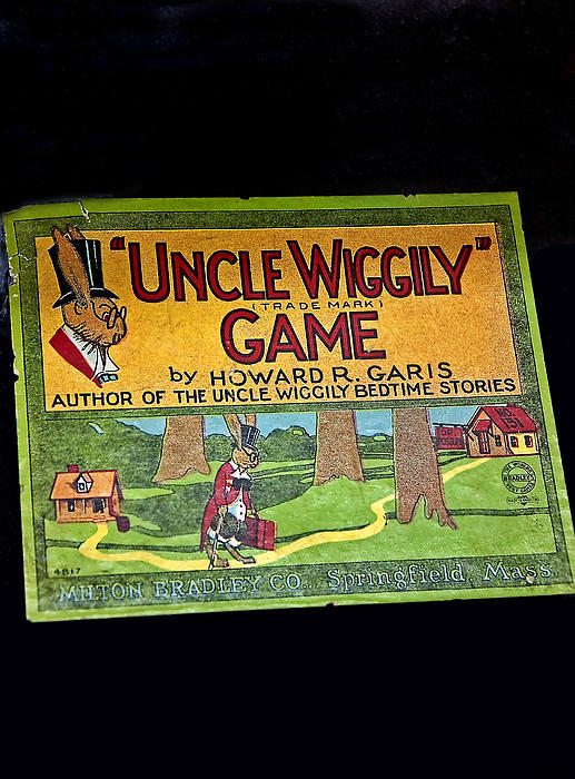 Antique Board Game Uncle Wiggily Print by Valerie Garner