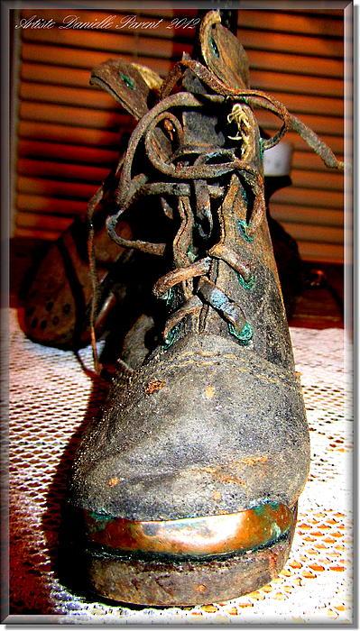 Antique Boots Print by Danielle  Parent