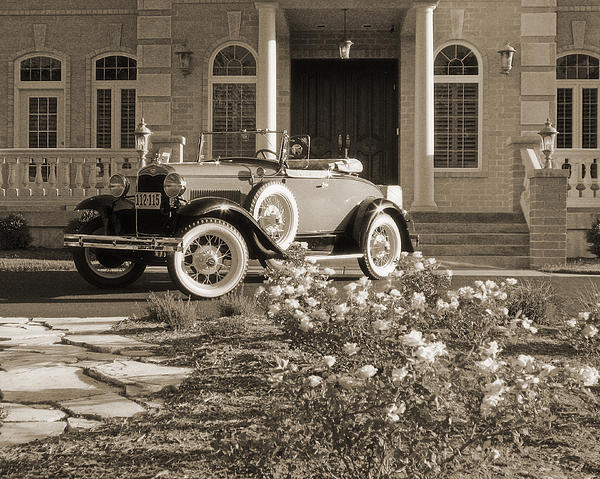 Greg Matchick - Antique Model A Ford Car in Sepia