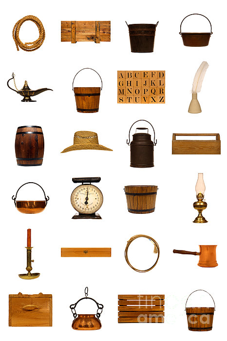 Antique Objects Collection Print by Olivier Le Queinec