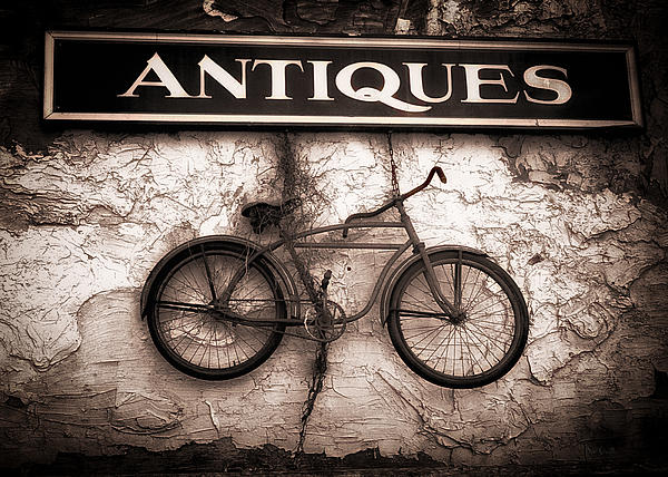 Antiques And The Old Bike Print by Bob Orsillo