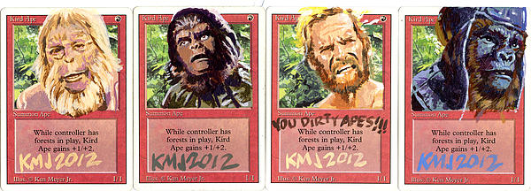 Apes Is Apes Print by Ken Meyer jr