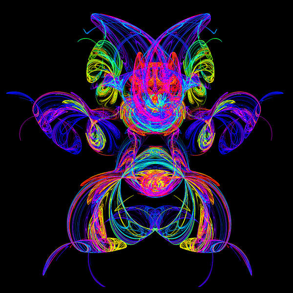 Apophysis Puppy Print by Pat Follett