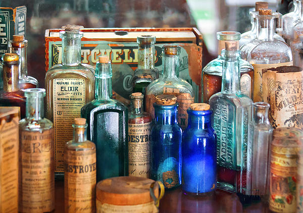 Apothecary - Remedies For The Fits Print by Mike Savad