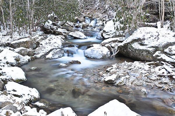 Appalachian Stream Snow By Ryan Phillips