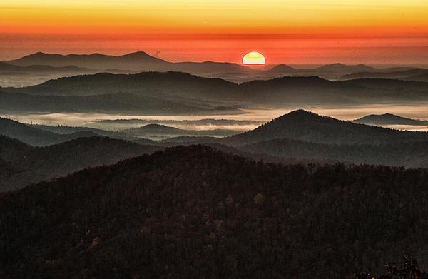 Appalachian Sunset Print by Phyllis Peterson