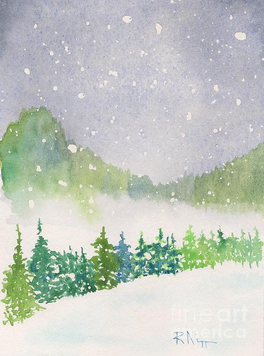 Appalachian Winter 12-11-12 Print by Robert Nipper