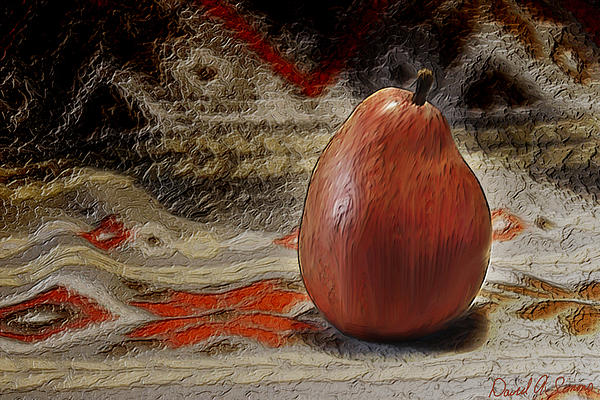 Apple Pear Print by David Simons
