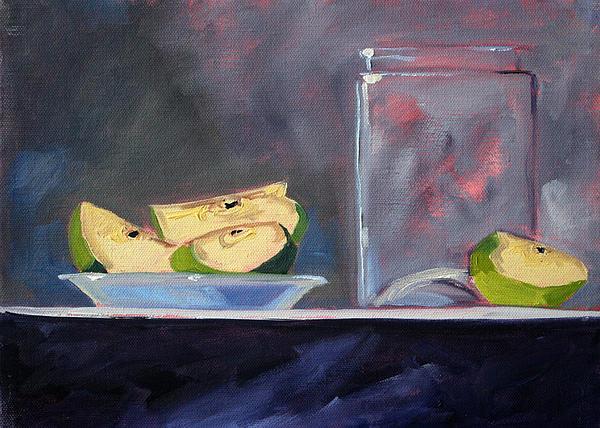 Apple Snack Print by Nancy Merkle