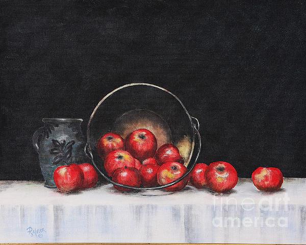 Apple Still Life Print by Rita Miller