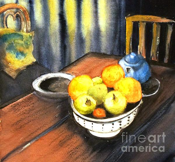 Therese Alcorn - Apples and Oranges - original SOLD