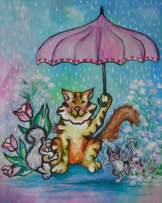 April Showers Print by Leslie Manley