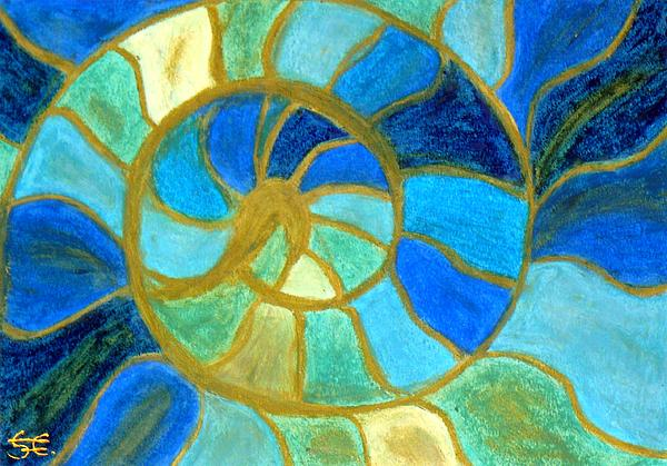 Aqua In Motion #6 Print by Carla Sa Fernandes