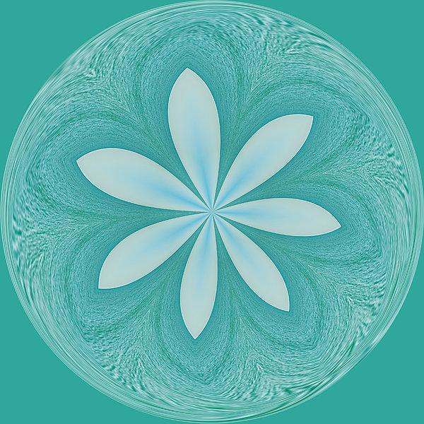 Aqua Orb Print by Kim Hojnacki