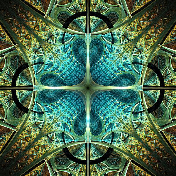 Aqua Shield Print by Anastasiya Malakhova