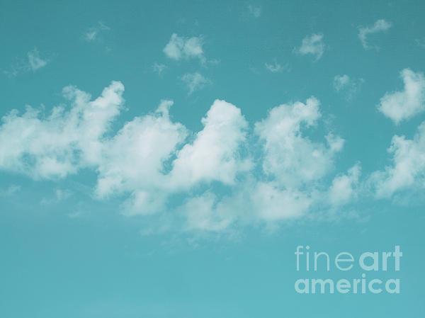 Aqua Sky Meditation Print by Irina Wardas