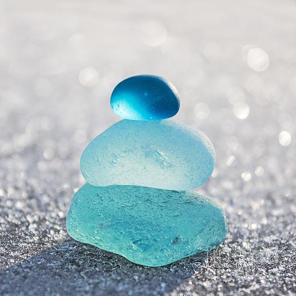 Aquamarine Ice Light Print by Barbara McMahon