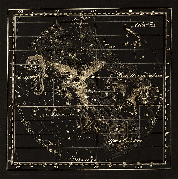 Aqulia Constellations, 1829 Print by Science Photo Library
