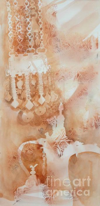 Arabesque Coffee Pots And Jewellery IIi Print by Beena Samuel