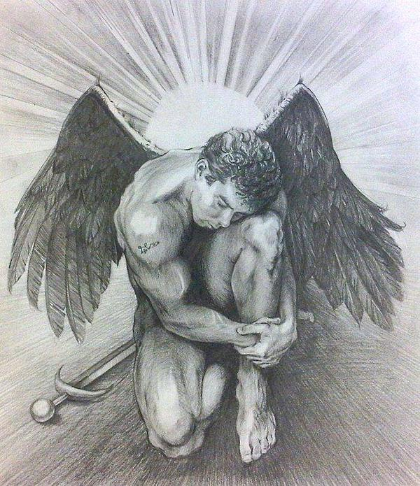 Archangel Michael Print by Karina Griffiths