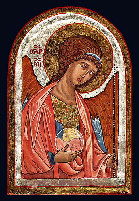 Archangel Michael Print by Raffaella Lunelli