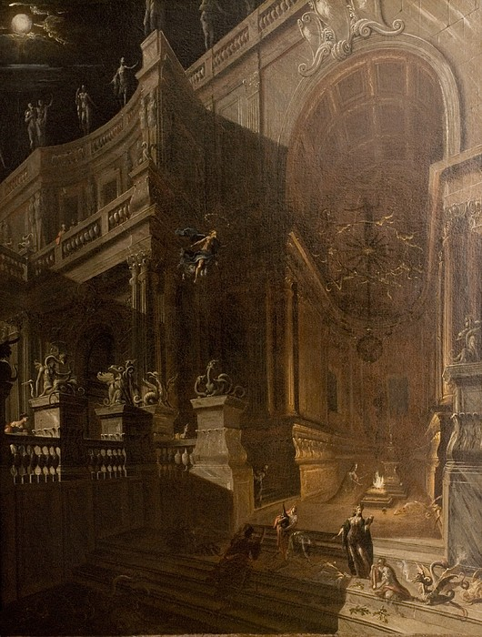 Architectural Fantasy With Figures Print by Stefano Orlandi
