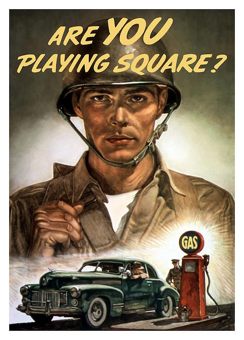 Are You Playing Square Print by War Is Hell Store