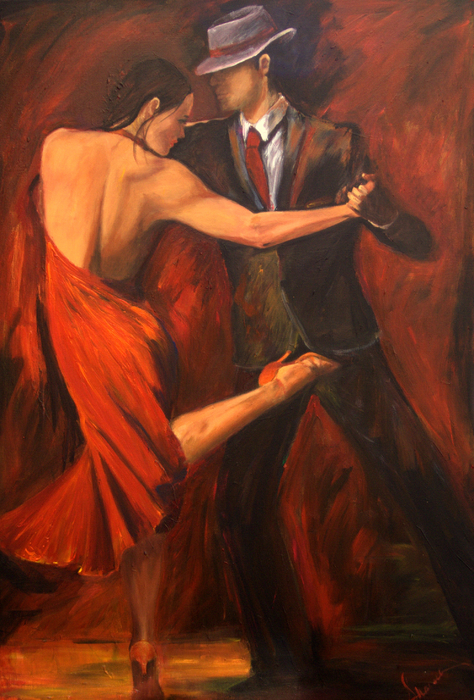 Argentine Tango Print by Sheri  Chakamian