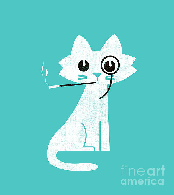 Aristo Cat Print by Budi Kwan