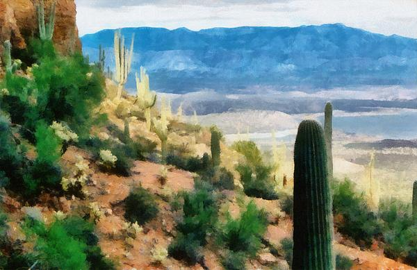 Arizona Desert Heights Print by Michelle Calkins