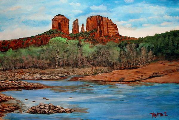 Arizona desert scene print by william tremble