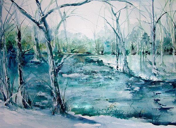 Arkansas Winter Print by Robin Miller-Bookhout