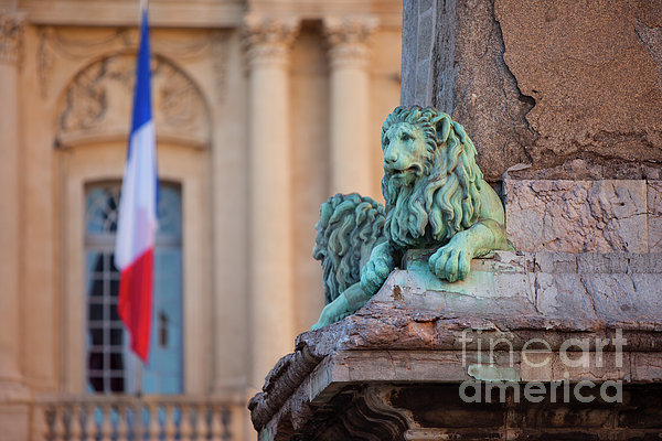 Arles Place De La Republique Print by Brian Jannsen