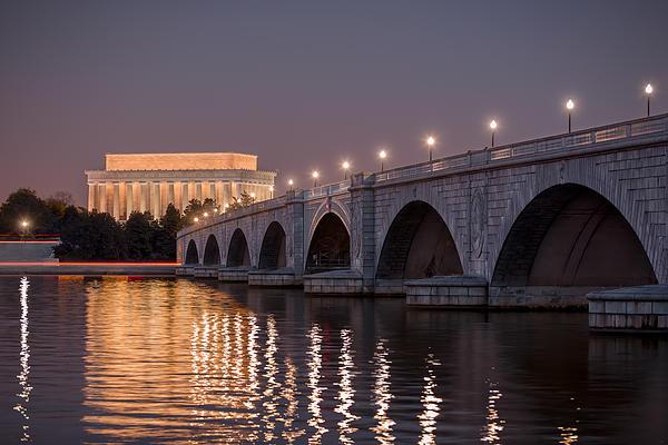 Arlington Memorial Bridge Print by Eduard Moldoveanu