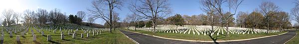 Arlington National Cemetery Panorama 2 Print by Metro DC Photography