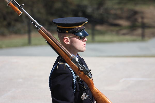 Arlington National Cemetery - Tomb Of The Unknown Soldier - 121219 Print by DC Photographer