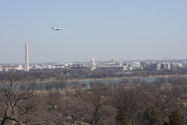 Arlington National Cemetery - View From Arlington House - 12122 Print by DC Photographer