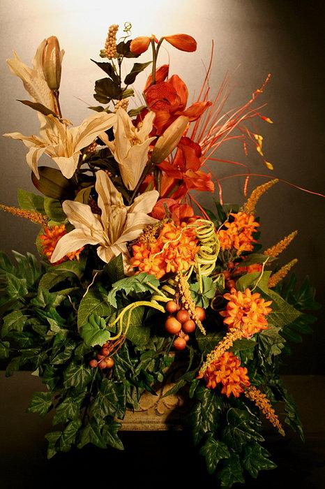 Arrangement Of Flowers Print by Diane Merkle